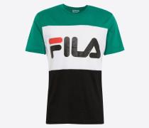T-Shirt grasgrün / schwarz / weiß