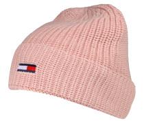 Strickmütze 'basic' rosa