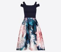 Jacquardkleid nachtblau / mischfarben