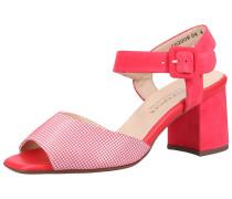 Sandalen rot / weiß