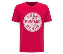 T-Shirt 'Printed Tee' rot / weiß