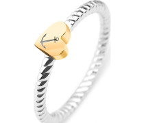 Ring 'Rope Anchor Love' gold / silber