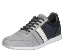 Sneaker Low mit Ziernähten grau