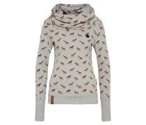 Sweatshirt braun / graumeliert