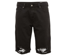 Jeans Shorts 'thoshort' black denim