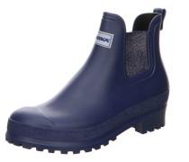 Stiefel blau / silbergrau
