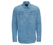 Hemd '3301 slim' blue denim