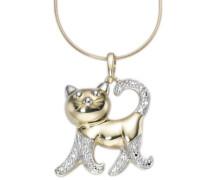 Anhänger 'Katze' gold