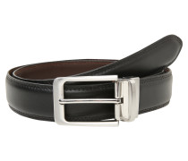 Wendegürtel aus Leder braun / schwarz