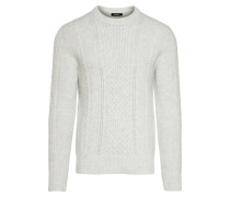 Pullover 'Fedor Soft Cable' offwhite