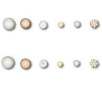 Ohrstecker-Set 'o17070' gold / grau / weiß