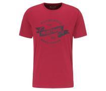 T-Shirt rot / schwarz