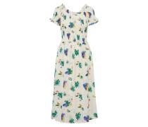 Kleid 'Cydney' blau / grasgrün / weiß
