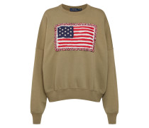 Sweatshirt 'rlxd Flag Cn-Long Sleeve-Knit'