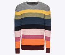 Pullover 'Multi col. striped knit zig-zag - Gots' mischfarben
