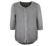 Bluse 'Button blouse' dunkelgrau