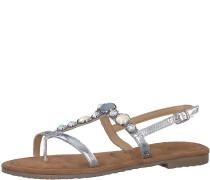 Perl-Sandale silber