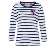 Sweatshirt 'Bobbie' nachtblau / weiß