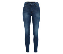 Acid Washed Jeans mit Zippern