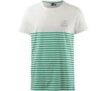 T-Shirt 'Newry' grasgrün / weiß