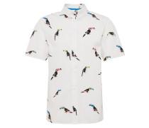 Hemd 'Nicolas shirt' mischfarben / weiß