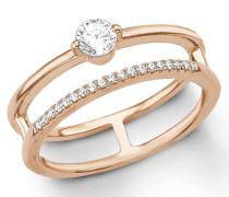 Fingerring rosegold / silber