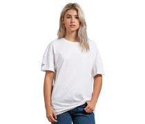 T-Shirt 'Stone Splif' blau / lila / weiß
