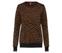 Pullover braun / schwarz