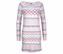 Nachthemd grau / rosa / wollweiß