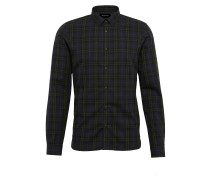 Hemd 'check Shirt With A Classic Collar Chest Badge AND Straight Hem'