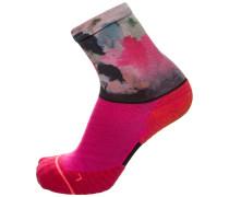 'Run Painted Crew' Laufsocken Damen pink