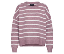 Pullover 'mags' rosé / weiß