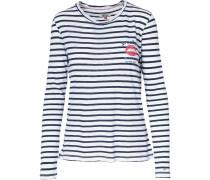Langarmshirt navy / weiß