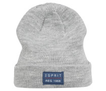 Mütze mit Klappsaum grau