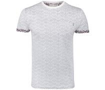 T-Shirt dunkelrot / weiß