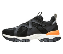 Sneakers schwarz / grau / orange