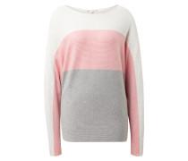 Pullover grau / rosa / weiß