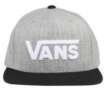 Cap 'drop V II' grau / schwarz / weiß