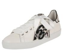 Sneaker beige / gold / schwarz / weiß
