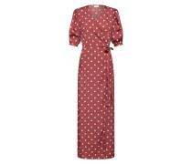 Kleid 'doletta' rot / weiß