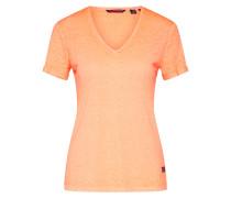 Shirt 'burnout VEE Tee' orange