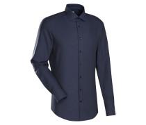 City-Hemd 'Custom Fit' dunkelblau