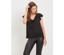 Detailreiche Bluse schwarz