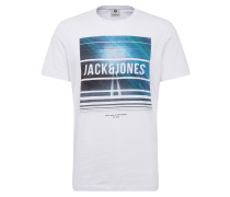 T-shirt 'spring-Feel Tee' blau / weiß