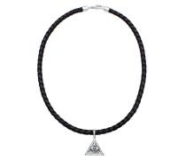 Halskette 'Evil Eye' schwarz / silber