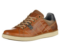 Sneaker beige / navy / braun
