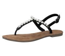 Sandale schwarz / weiß