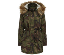 Parka Camouflage dunkelbeige / braun / khaki