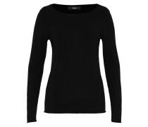 Pullover mit Rollkanten schwarz