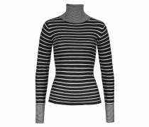 Rollkragenpullover schwarz / weiß